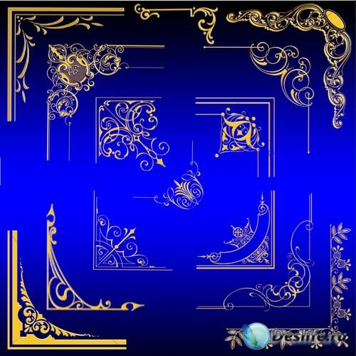 Клипарт - Золотые уголки