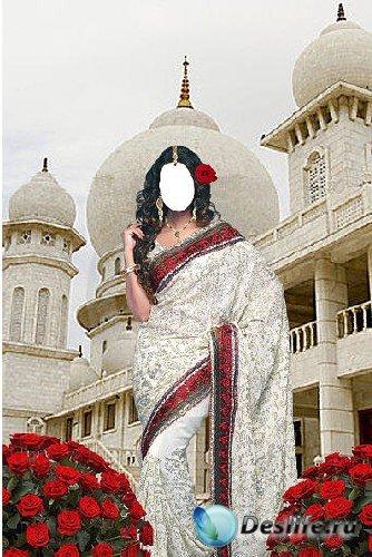 Костюм для фотошопа - Индианка возле белого дворца