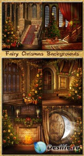 Фоны для фотошопа - Сказочное Рождество