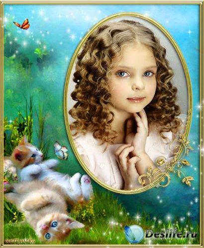 Детская рамка для фото - Пушистые милые крошки
