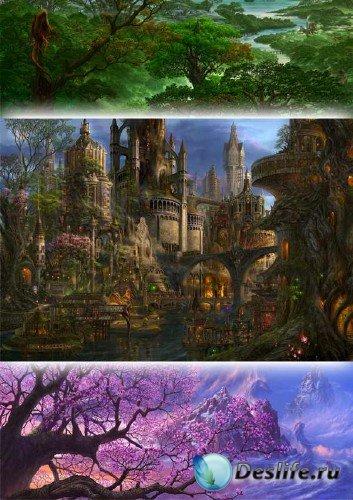 Невероятные фэнтези миры иллюстратора Казумаса Учио (Kazumasa Uchio)