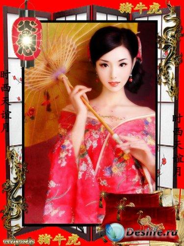 Рамка для фото - Загадочная и таинственная восточная культура