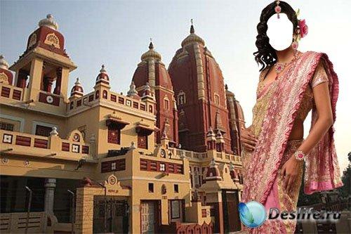 Костюм для фотошопа – Индианка в розовом