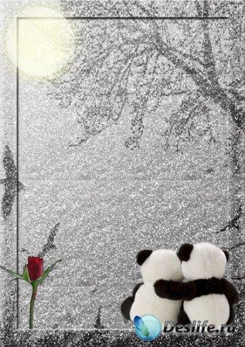 Романтическая рамка для Фотошоп - Нежность