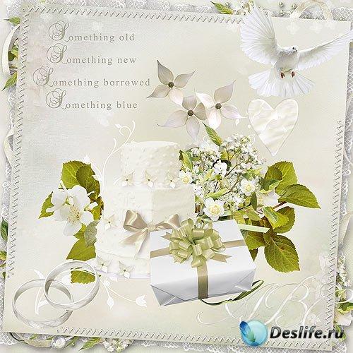 Скрап набор – Всё в белом нежном цвете
