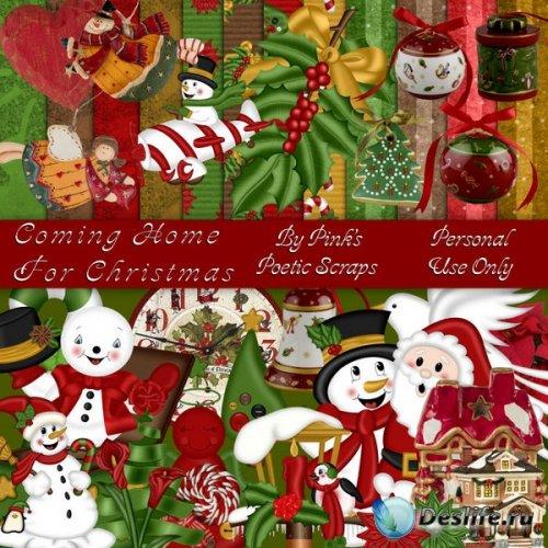 Скрап набор - Домой на рождество