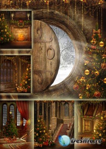 Новогодние фоны для фотошопа – Минута до волшебства