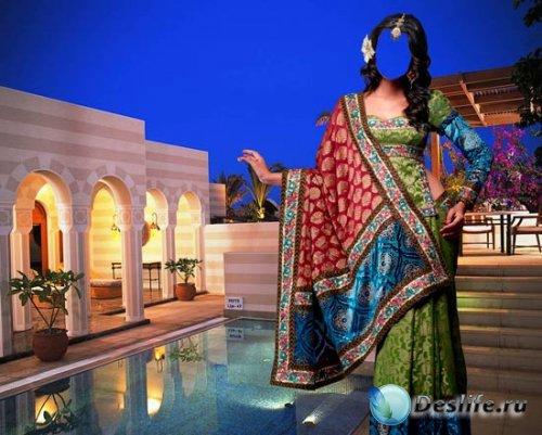 Костюм для фотошопа - Красавица в сари