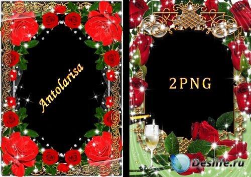 Рамки  для фото - Красные розы