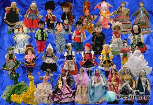 Клипарт Этнические куклы