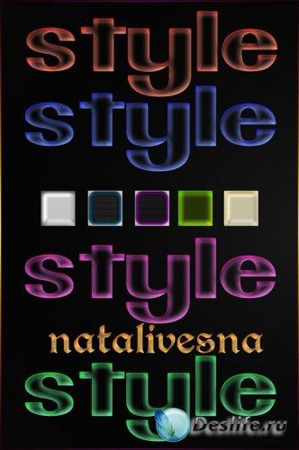 Прозрачные стили  –  Неон  / Transparent styles – Neon