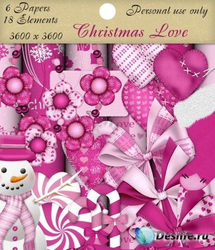Скрап набор - Рождественская любовь