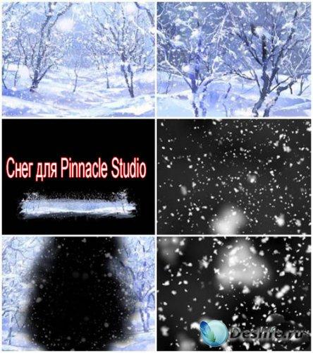 Футажи для Pinnacle Studio – Зимний лес и снег