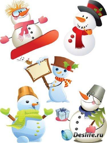 Фотосток: новогодние снеговики (часть первая)