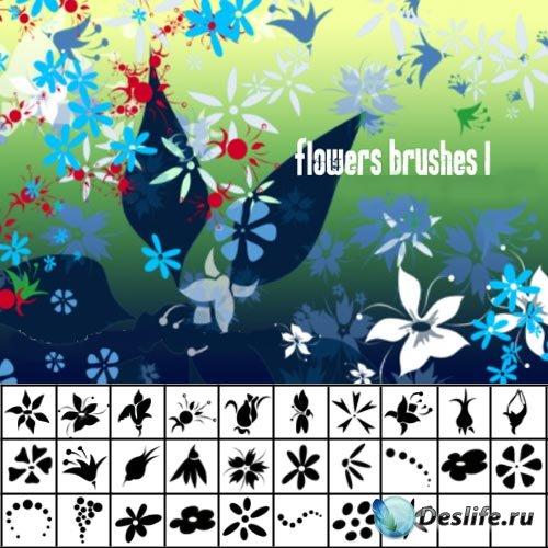 Кисти цветочный набор 7