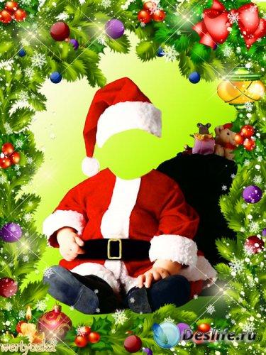 Новогодний детский костюм для фотошопа - Малыш в новогоднем костюме