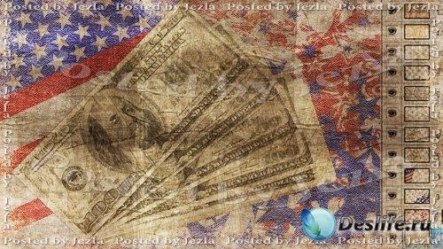 PSD Исходники - Деньги: 100 долларов (Money)