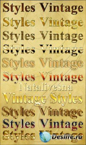 Стили  для Photoshop - Винтаж / Styles Photoshop - Vintage