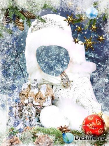 Костюм для фотошопа - Девочка зима