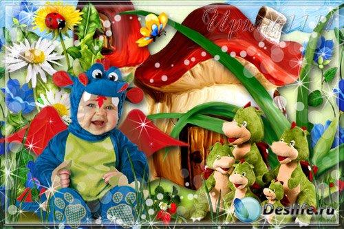 Детский костюм для фотошопа - Семейка драконов