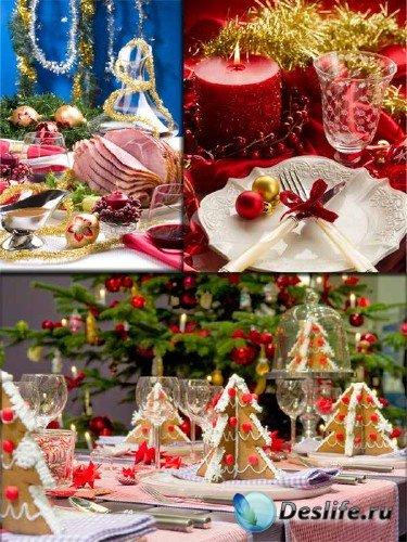 Фотосток: праздничный новогодний стол