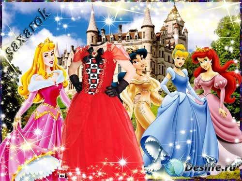 Красивый сказочный костюм«Принцессы у замка»