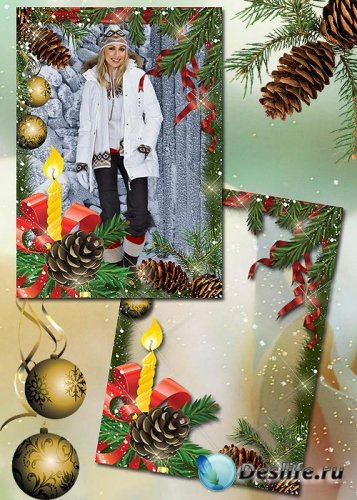 Новогодняя рамка для фото – Встретим новый год красиво