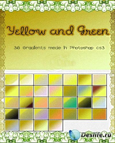 Желто-зелёные градиенты