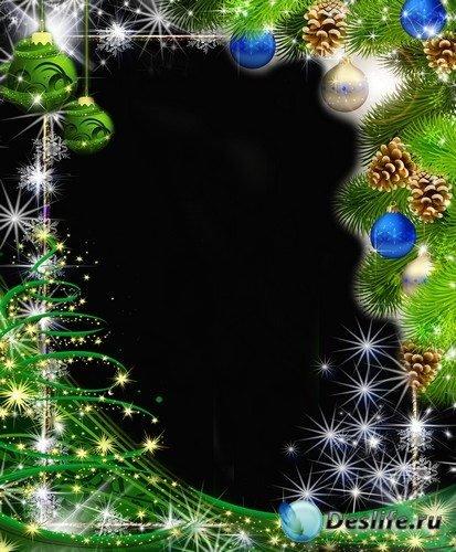 Рамка для фото – Новогодняя ель