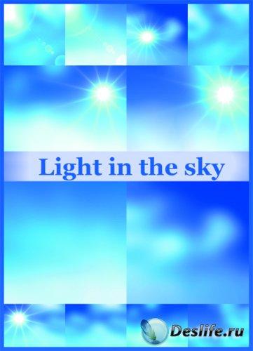 Фоны для фотошопа - Блики на голубом небе
