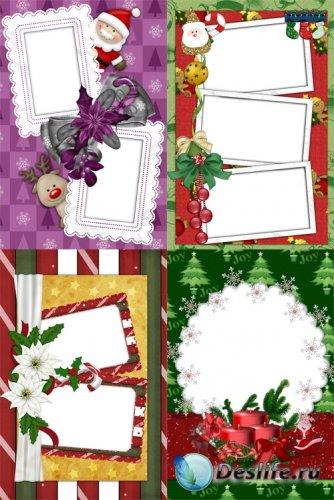Красивые новогодние скрап рамочки для фото