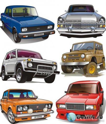 Русские и советские автомобили в векторе