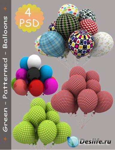 Надувные шары - PSD исходник