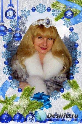 Рамка для фотошопа - Снежный Новый год