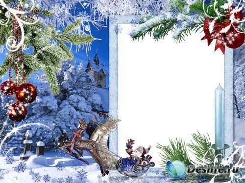 Рамка для фото –  Зимняя новогодняя сказка