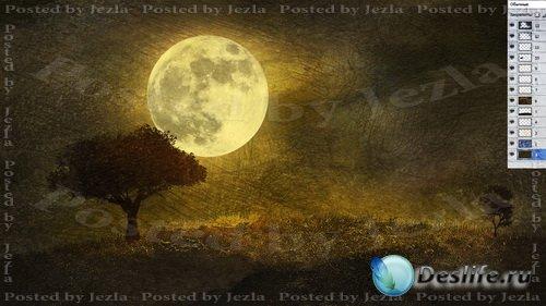 PSD Исходники - Лунный свет