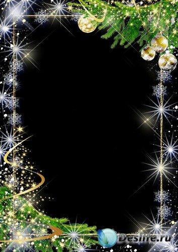 Рамка для фото – Новогодняя золотая ель