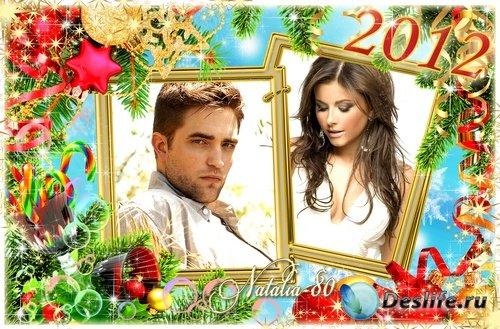 Праздничная рамочка для новогодних фото - Долгожданный праздник
