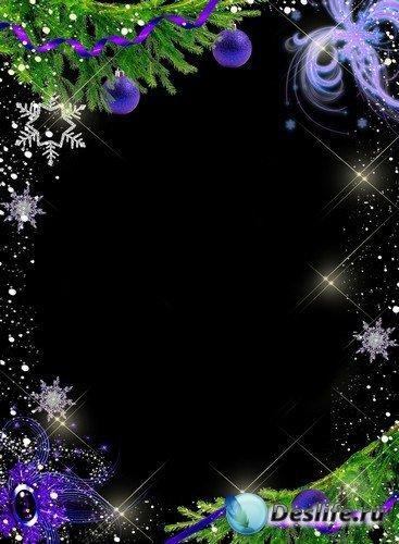 Рамка для фотошопа – Новогодняя ночь