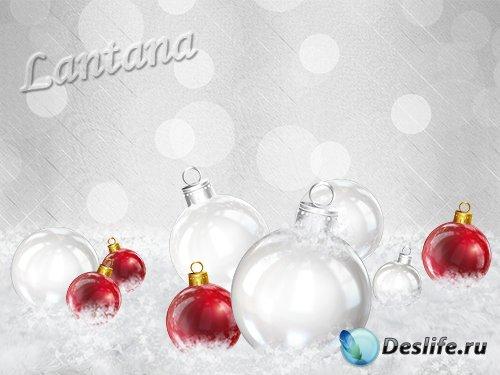 PSD исходник - Новогодняя мишура №28