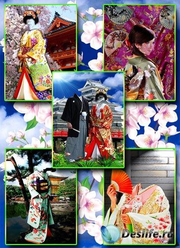 Коллекция японских костюмов - Под веткой сакуры...