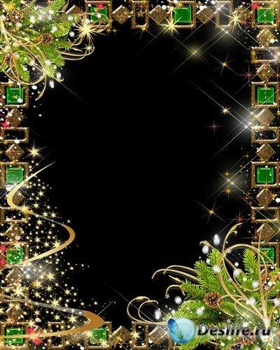 Рамка для фото – Новогодние огни