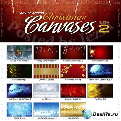 Новогодние футажи - Animated Christmas Canvases 2