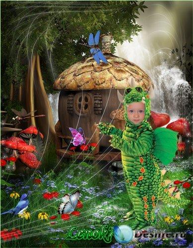 Детский фотокостюм для мальчика - Мой маленький дракончик