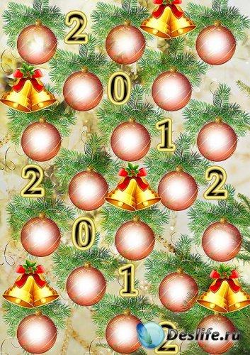 Зимне-новогодний вариант виньетки для фотошопа