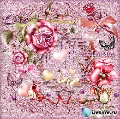 Романтичный скрап-набор – Розы для Любимой/ Roses for Favourite