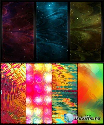Абстрактная туманность и тропические текстуры