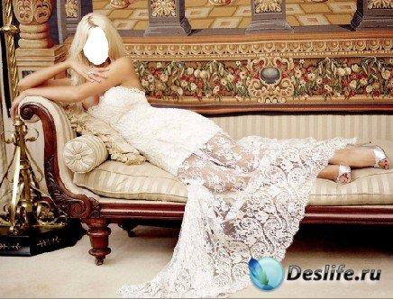 Костюм для фото - На диване в PSD