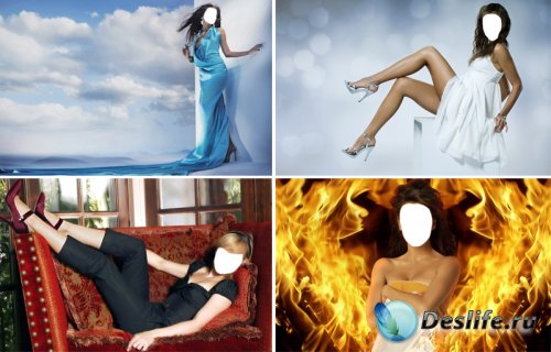 Женские костюмы для Photoshop (Часть 3)