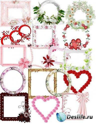 Рамки для фотошоп - Романтические